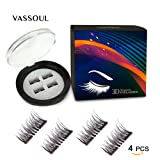 Amazon Price History for:VASSOUL Dual Magnetic Eyelashes-0.2mm Ultra Thin Magnet-Lightweight & Easy to Wear-Best 3D Reusable Eyelashes Extensions(4pcs)