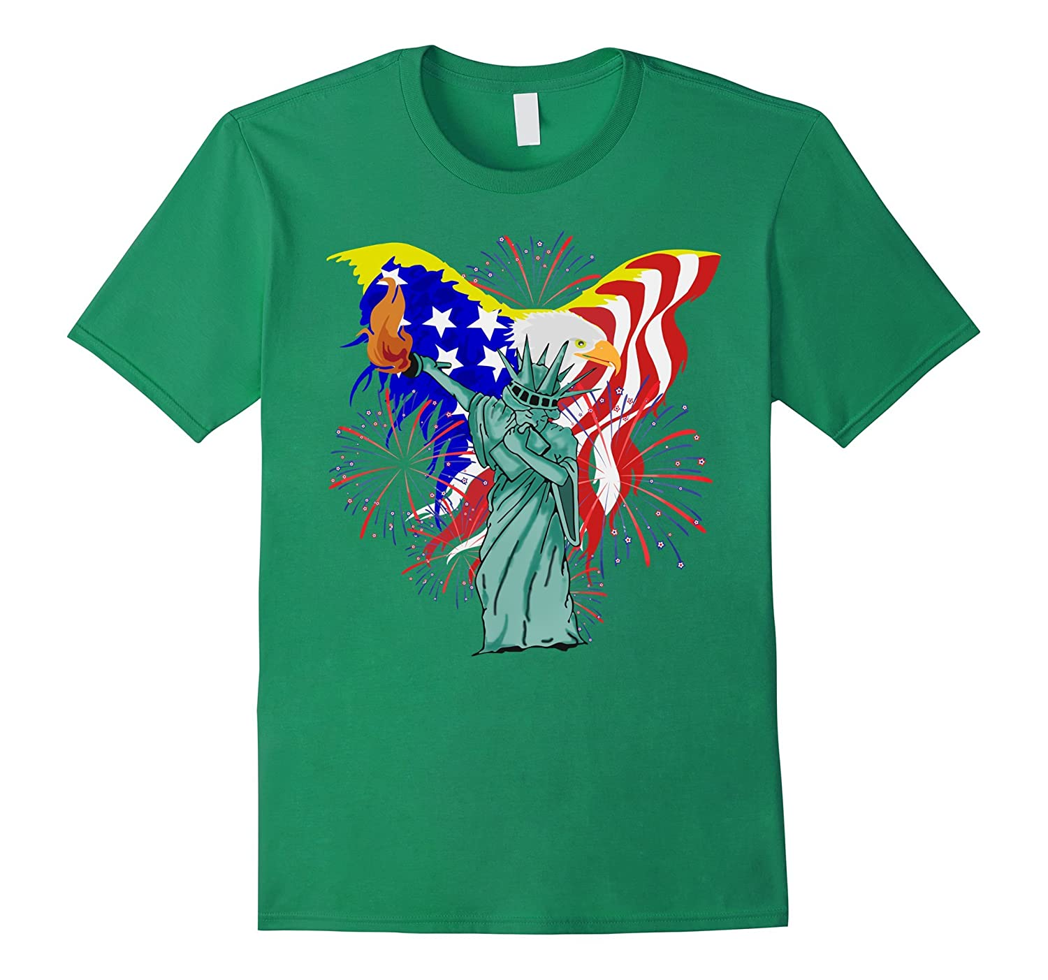 Statue Of Liberty Dabbing on 4th Of July 2017 Cool T-Shirt-Vaci