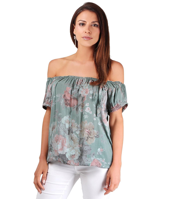 952cabdc741 KRISP 4689-KHA-ML  Floral Boho Summer Top  Amazon.co.uk  Clothing