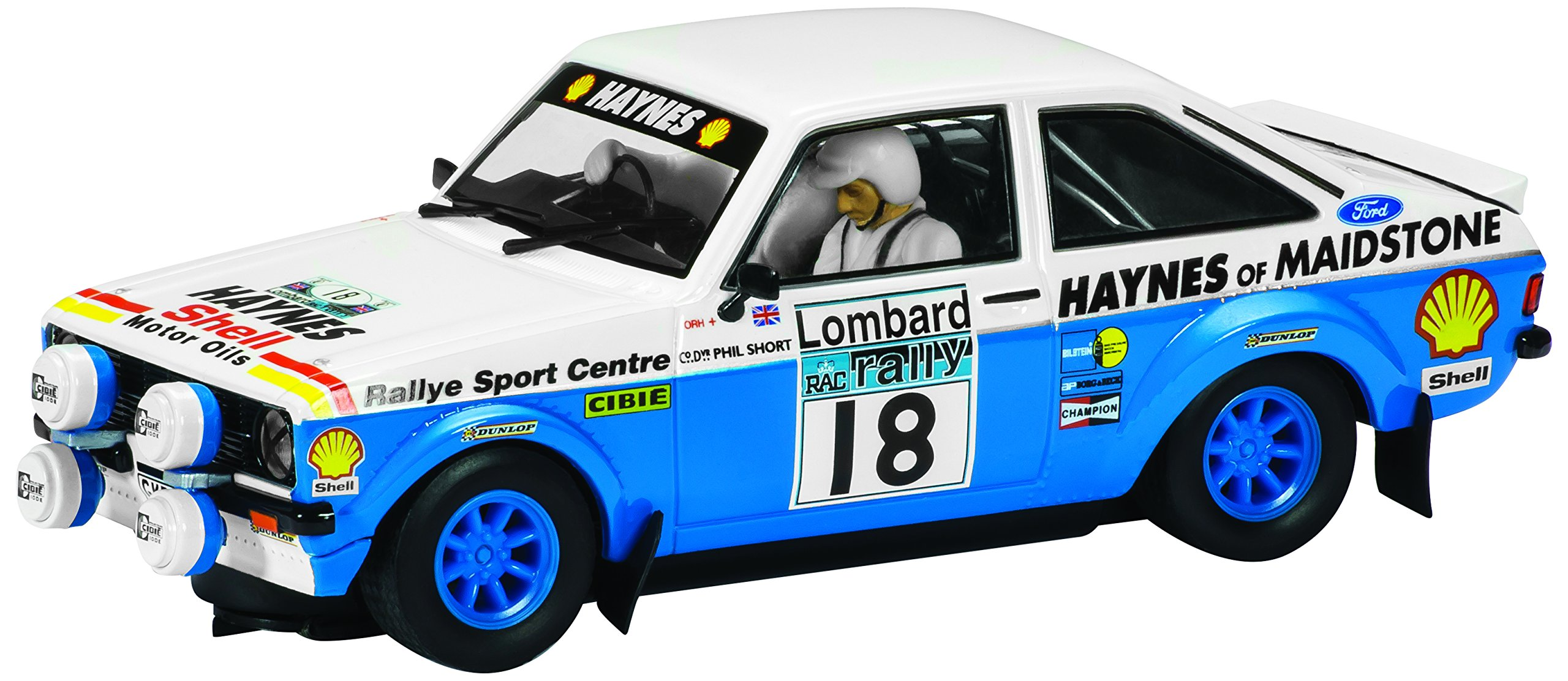 Scalextric Classic Ford Escort MK II Haynes of Mainstone Slot Car (C3636/1:32nd Scale)