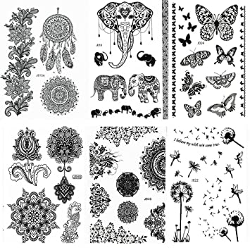 Amazon Com Pinkiou Henna Tattoo Stickers Lace Mehndi Temporary Tattoos For Maverick Women Teens Girls Metallic Tattooing Pack Of 6 Black Beauty ✓ free for commercial use ✓ high quality images. pinkiou henna tattoo stickers lace mehndi temporary tattoos for maverick women teens girls metallic tattooing pack of 6 black