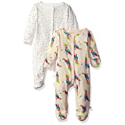 Rosie Pope Baby Girls' 2 Pack Coveralls, Parrot Multi, 0-3 Months