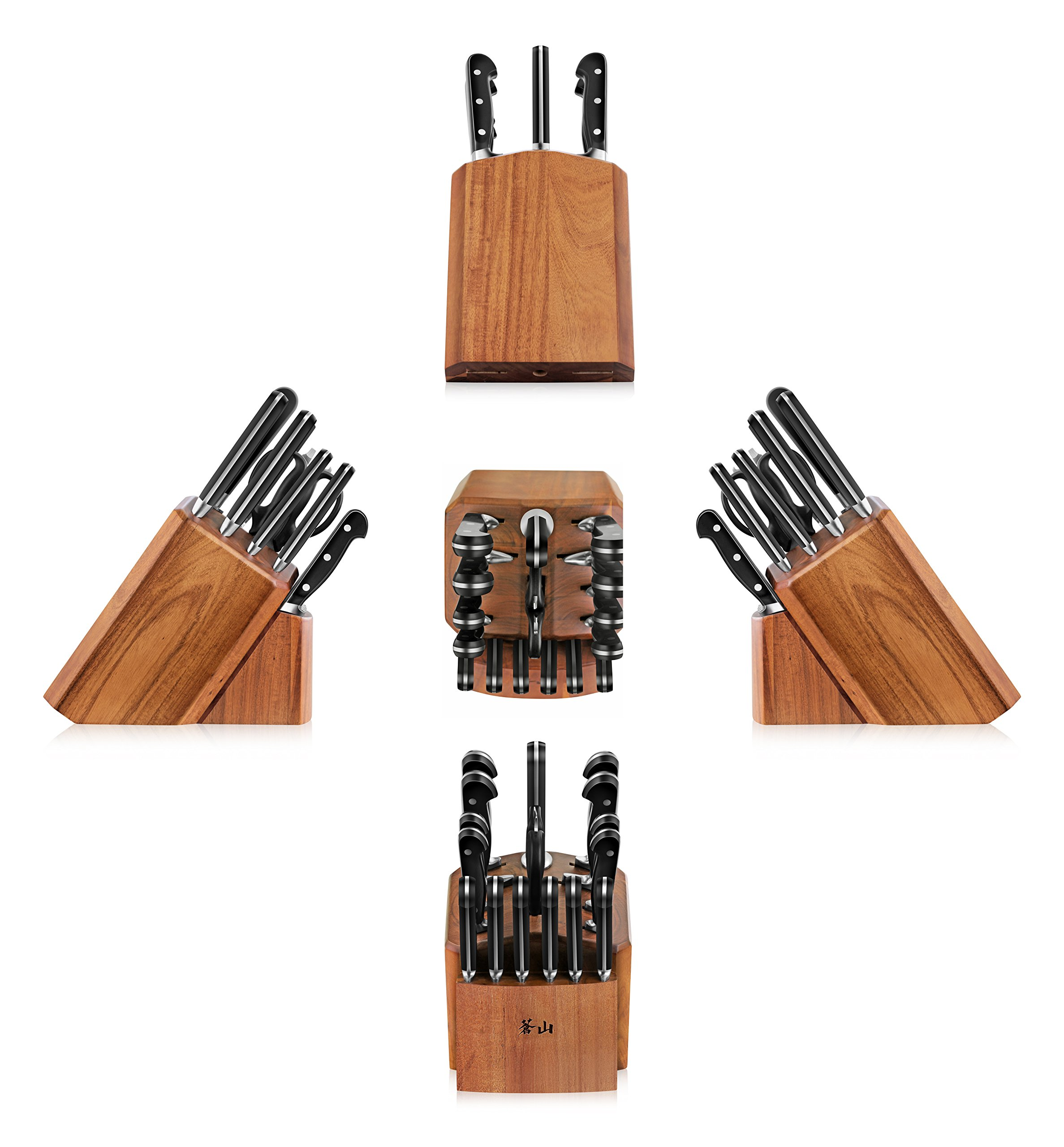 Cangshan V2 Series 1022551 German Steel Forged 17-Piece Knife Block Set , Acacia by Cangshan (Image #7)