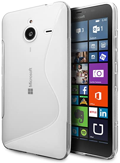 more photos af8a8 b42aa Microsoft Lumia 640 XL LTE Case, Cimo [Wave] Premium Slim TPU Flexible Soft  Case for Microsoft Lumia 640 XL - Clear
