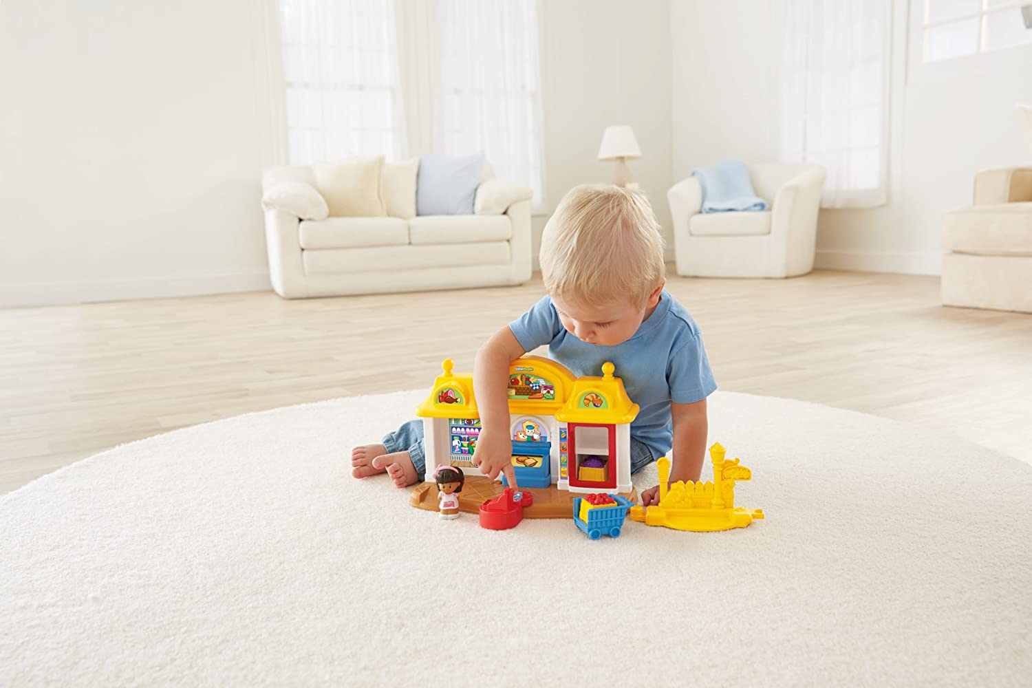 Amazon.com: Fisher-Price Little People Corner Market Playset: Toys ...