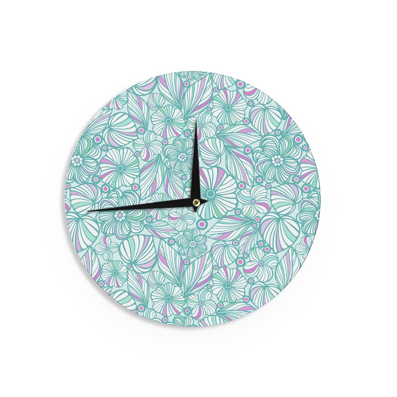 Kess InHouse Julia Grifol Simple Circles in Grey Wall Clock 12