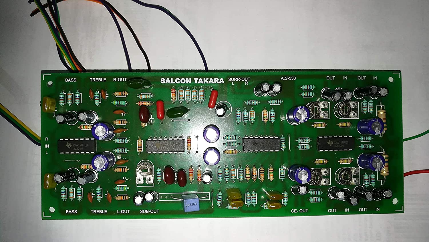 Salcon Electronics Hi Fi 5 1 Prologic Decoder Preamp Amazon In