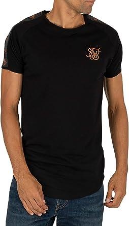 Sik Silk de los Hombres Camiseta de Gimnasio de Cinta, Negro, XL: Amazon.es: Ropa y accesorios