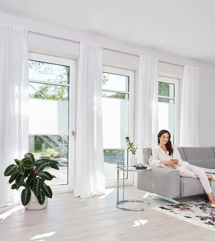 Lichtblick PS.085.130.01 Store pliss/é sans per/çage Blanc 85 x 130 cm