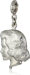 product image for 1928 Jewelry Mother's Day Items Silvertone Girl Head Charm, Silver