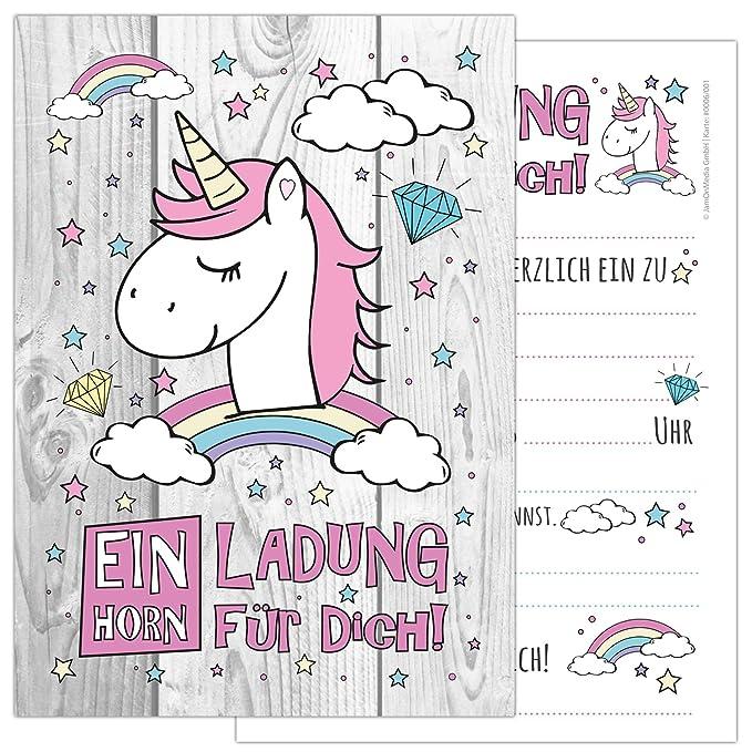 Juego de 6 tarjetas Unicorn con un bonitas, simpáticos ...
