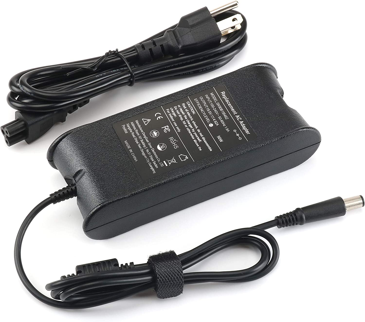 90W Laptops Ac Adapter Charger for Dell Inspiron N7110 7490 N5110 3451 N7010 5537 9300 5720 N5010 5580 N5050 5721 3521 3520 3542 5521 5547 1764 5520 Vostro 3400 3500 5480 XPS L502X M1530 Studio 1440