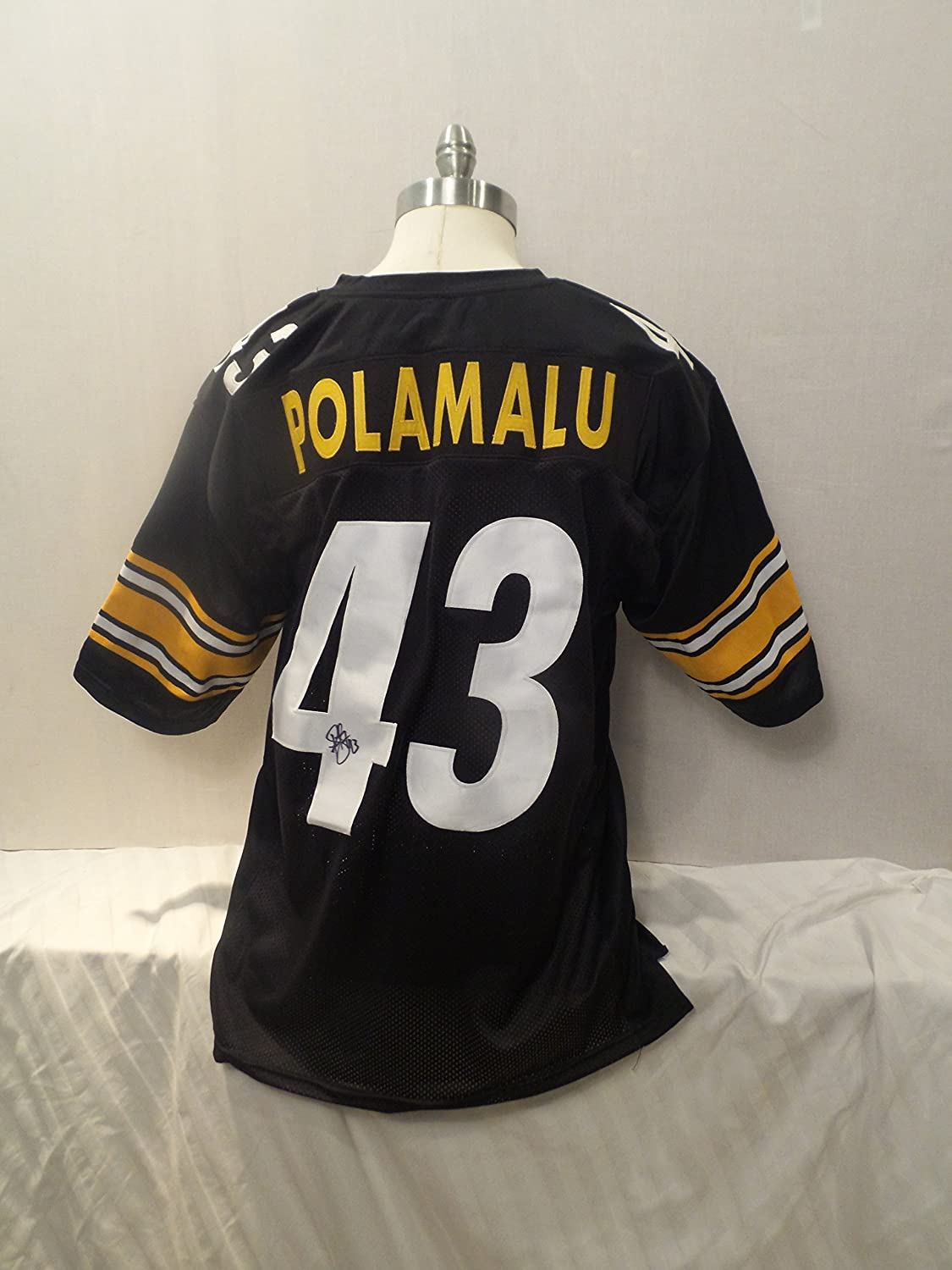 Troy Polamalu Signed Pittsburgh Steelers Black Autographed Jersey Novelty Custom Jersey