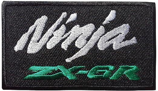 Kawasaki Ninja ZX-6R Racing Biker ventiladores negro parche ...