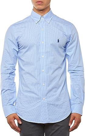 Polo Ralph Lauren A04WERSMC0109 Camisa, (Blue/Wht Ging ...