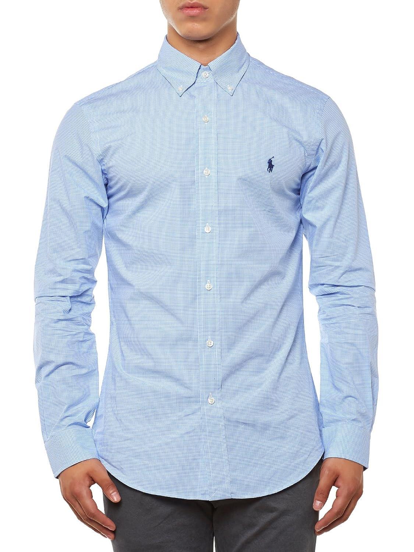 Polo Ralph Lauren A04WERSMC0109 Camisa, (Blue/Wht Ging I4038), XXL ...