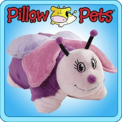 "Pillow Pets 11"" Pee Wees - Small Pink Butterfly: Toys & Games"