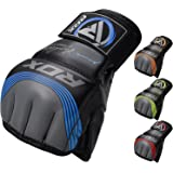 RDX MMA Gloves Sparring Martial Arts Grappling Maya Hide Leather Training UFC Fighting Combat Punching Bag Gel Mitts
