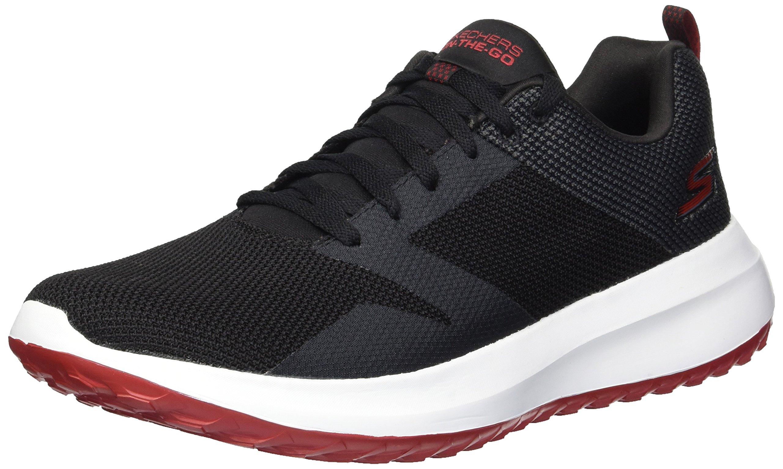 Skechers Men's on-The-GO City 4.0 Sneaker, Black/White, 14 M US