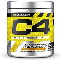 Pre-workout Powder C4 Original Orange Burst   Pre-workout Energy Drink Supplement   150 mg Cafeïne + Bèta-alanine…
