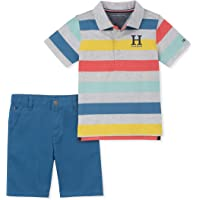 Tommy Hilfiger Baby-Boys 2 Pieces Polo Shorts Set Shorts Set - Multi - 18 Months