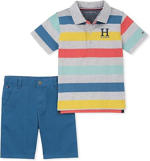 Tommy Hilfiger - Conjunto de 2 pantalones cortos polo para niños ...
