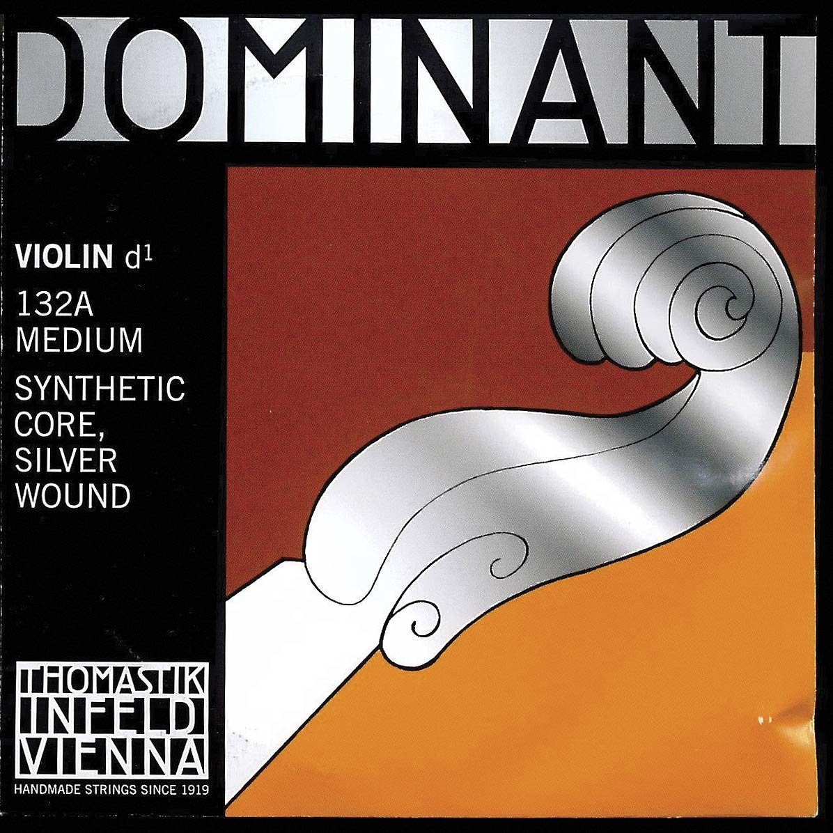 Thomastik Dominant 4/4 Violin D String Medium Silver-Perlon