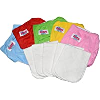 Baby Bucket Washable Cloth Diapers with Washable Inserts (Pads). Free Size Set of 5