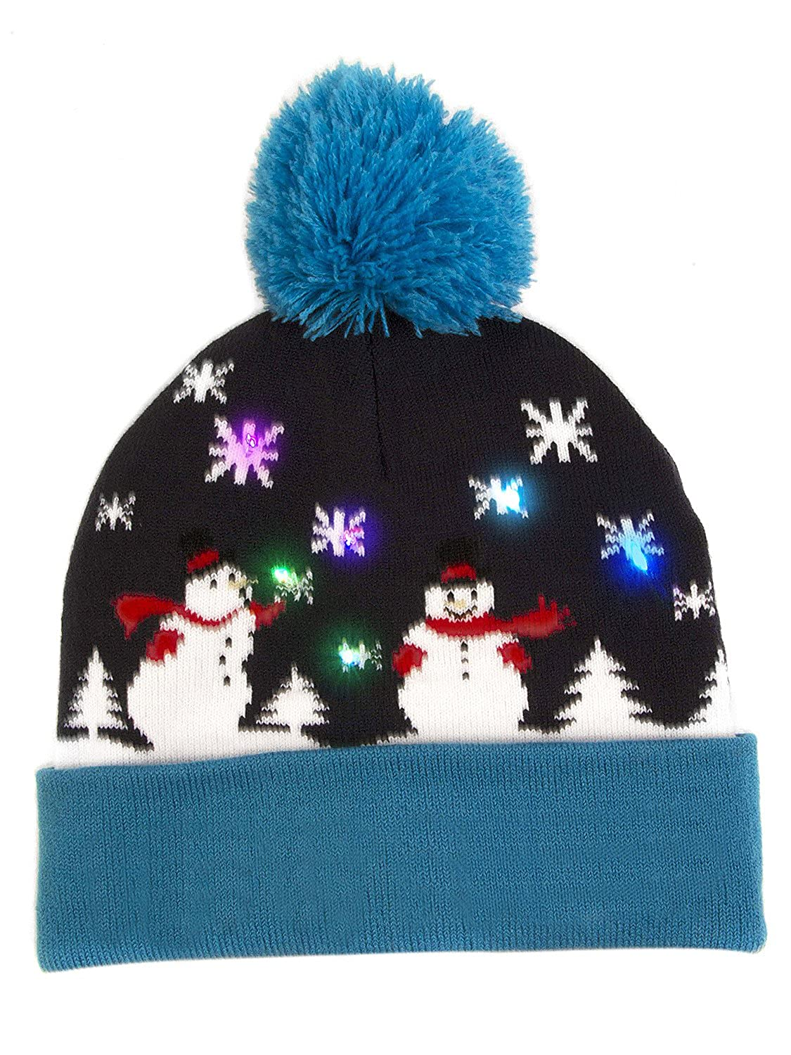 eb2c9931386 Choies Cute Light-up Knitted Hats Winter Child Christmas Beanie Hat at  Amazon Women s Clothing store