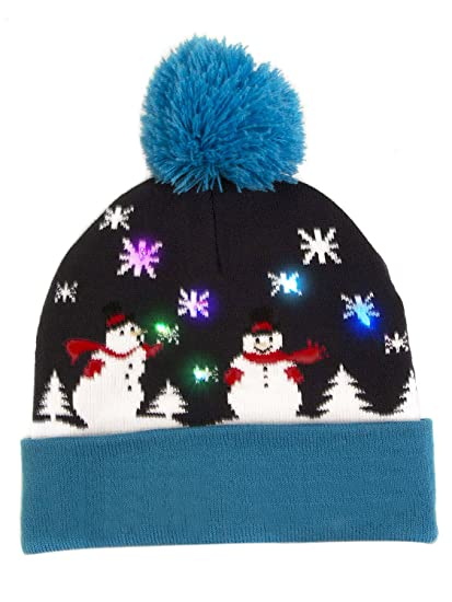 dc046af38af Choies Cute Light-up Knitted Hats Winter Child Christmas Beanie Hat ...