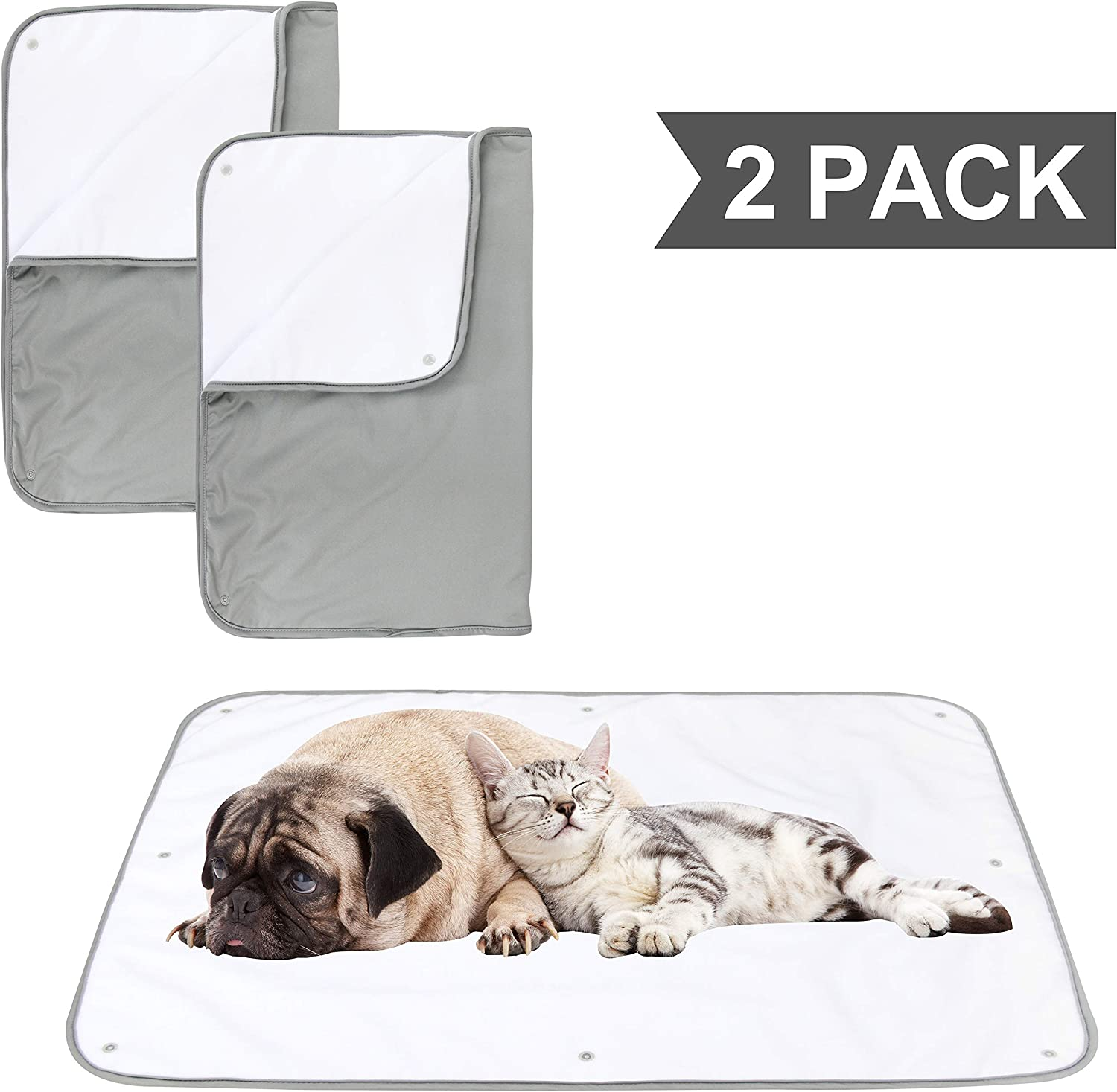 Paw Legend Multiple Sizes Waterproof Dog Blanket for Couches, Sofa, Bed and Car | Pet Fleece Incontinence Blanket Pad for Dogs, Puppies, Cats and Kids (Grey Color) : Pet Supplies