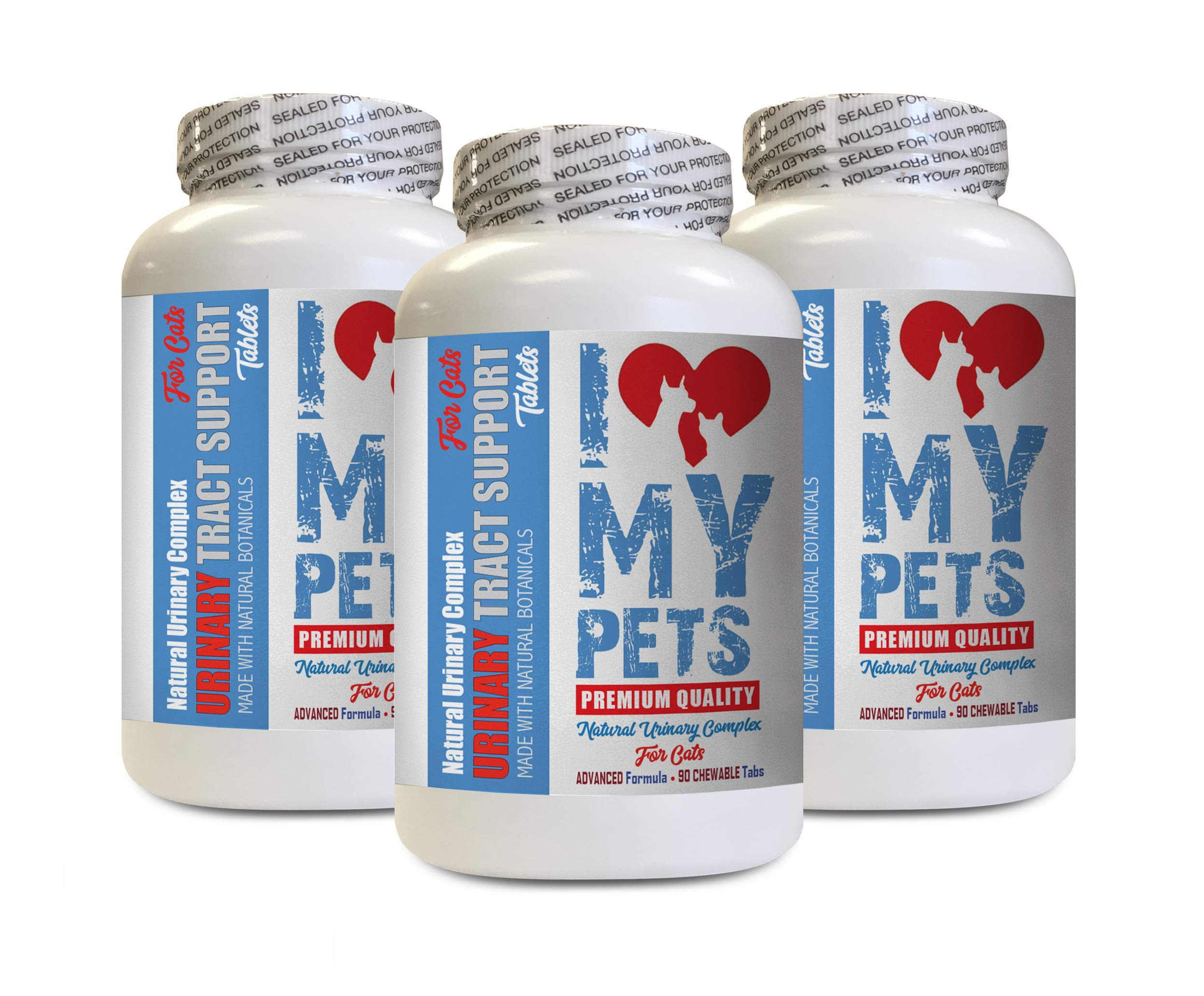 I LOVE MY PETS LLC Bladder Support for Cats - CAT Urinary Tract Support - Natural Complex - Premium - Urinary Tract Supplements for Cats - 270 Treats (3 Bottles) by I LOVE MY PETS LLC