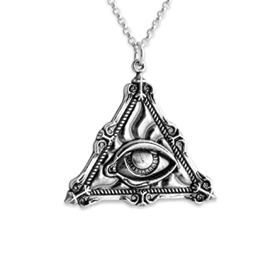 Amazon 925 sterling silver all seeing eye of providence pendant 925 sterling silver all seeing eye of providence pendant mozeypictures Images
