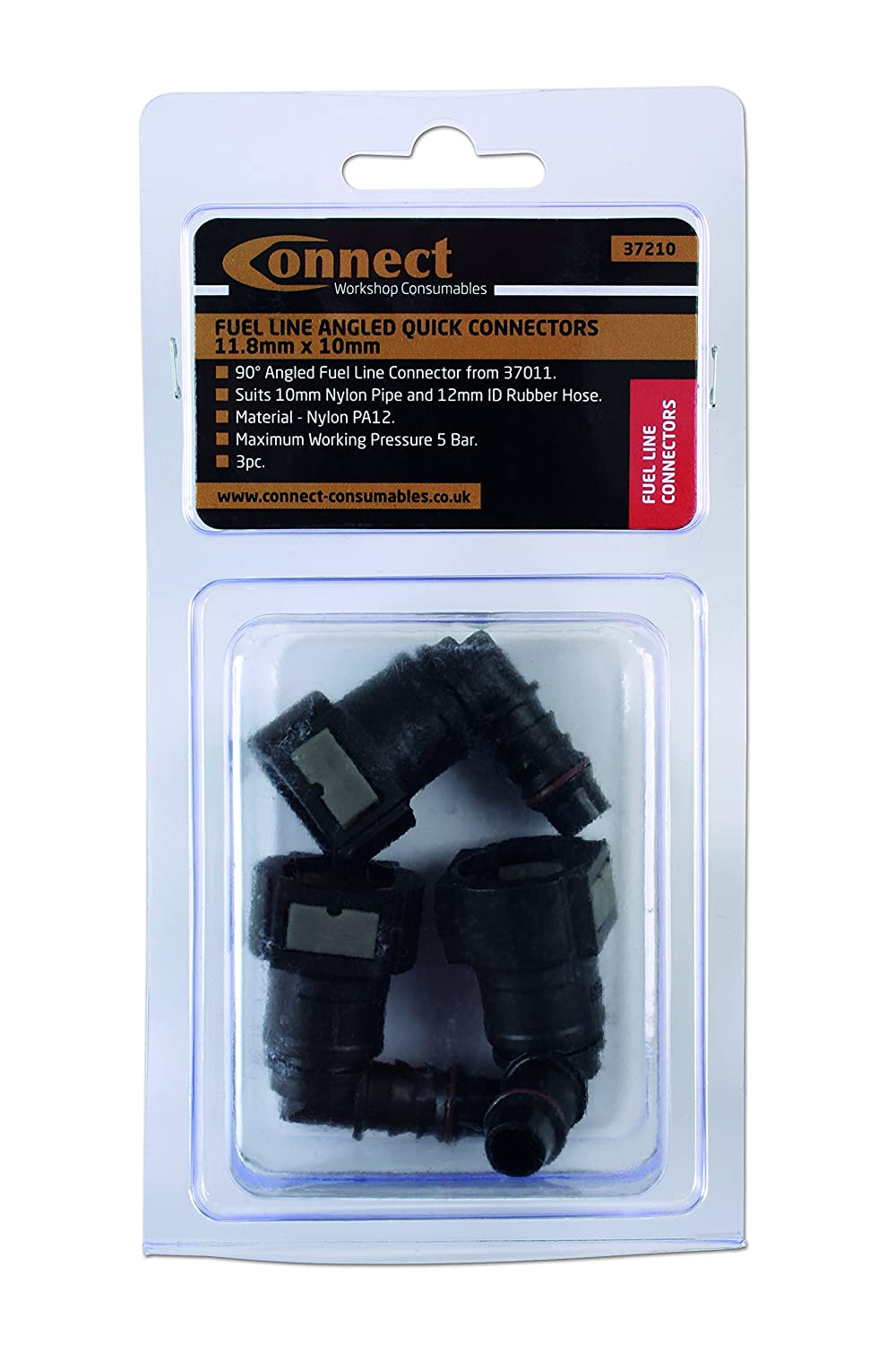 Connect consommables Connect Atelier consommables 37210/carburant coud/é raccords rapides 11,8/mm x 10/mm pk 3