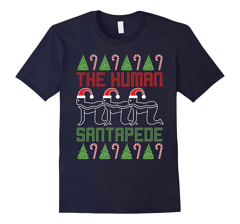 The Human Santapede Ugly Christmas Sweater ugly Xmas t shirt-CL