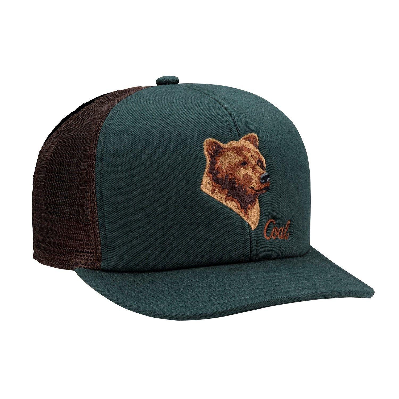 Coal The Wilds Trucker Snapback Hat Black Forest Green Bear