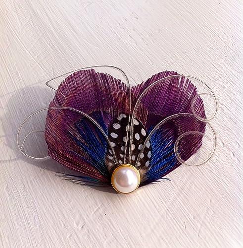 Amazon.com  Oh Lucy Handmade WINTER Heart and Soul Peacock Mini Clip ... 2763548f46f