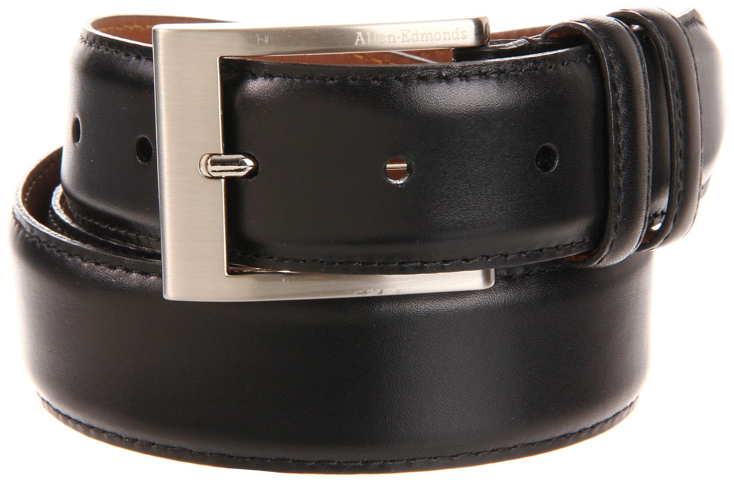 Allen Edmonds Men's Basic Wide Dress Belt, Black, 44