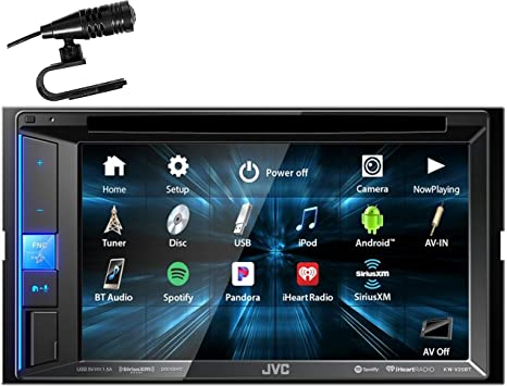 JVC KW-V25BT Multimedia Receiver Featuring 6.2 WVGA Clear Resistive Touch Monitor//Bluetooth Renewed 13-Band EQ