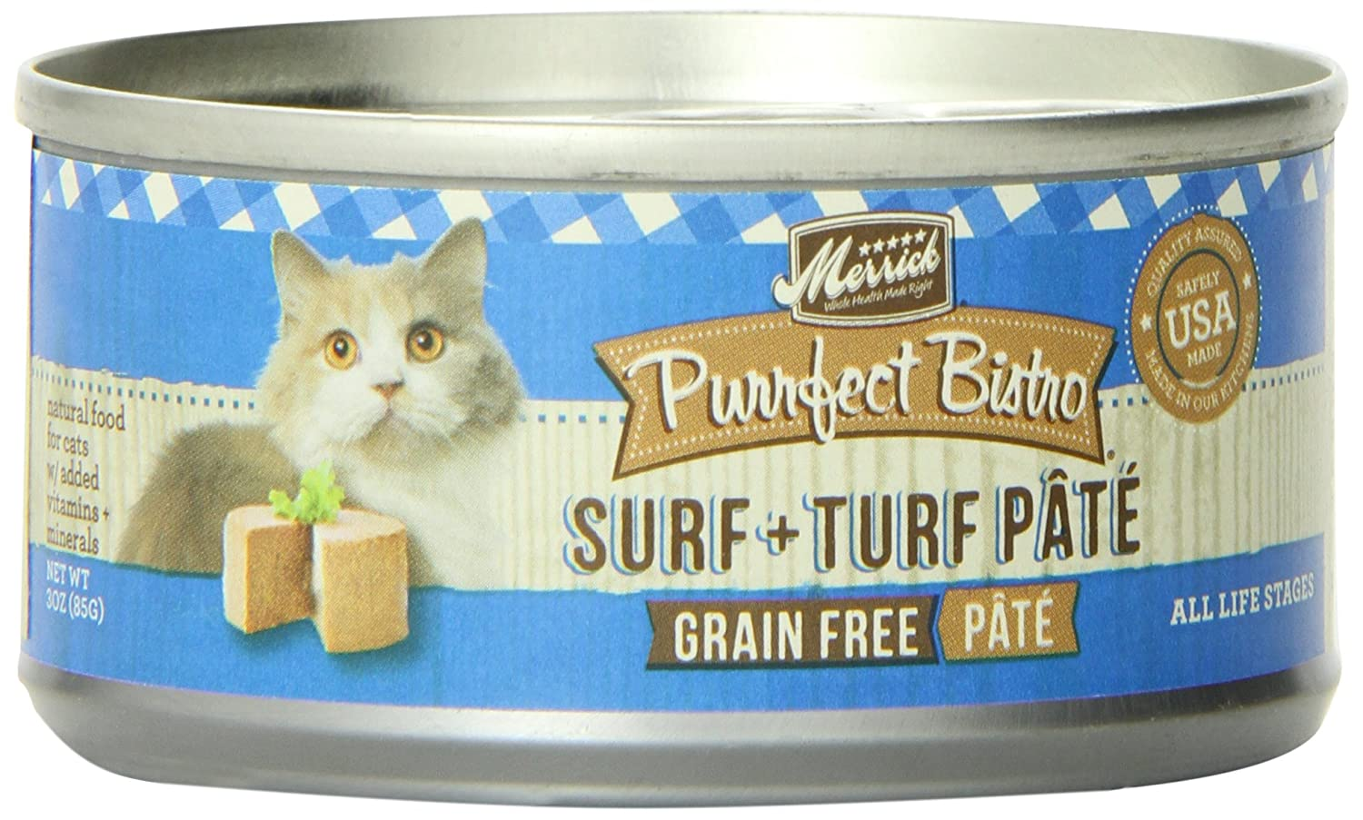 Purrfect Bistro Suf & Turf Pate Can 3.2 oz
