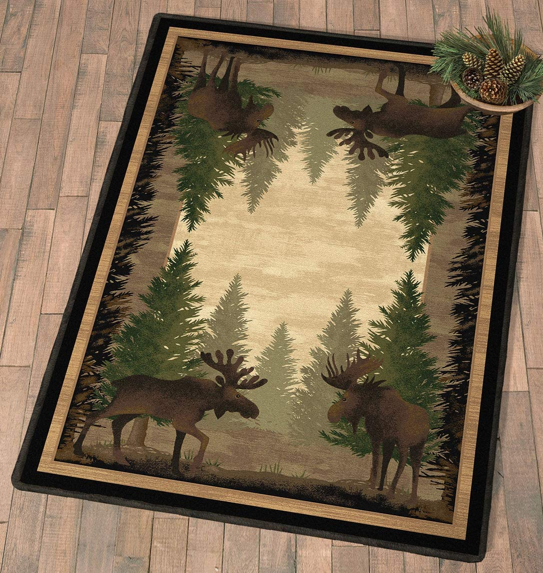 Chardin home Farmhouse Jute Natural Braid Rug, Natural, Size 3 Rnd.