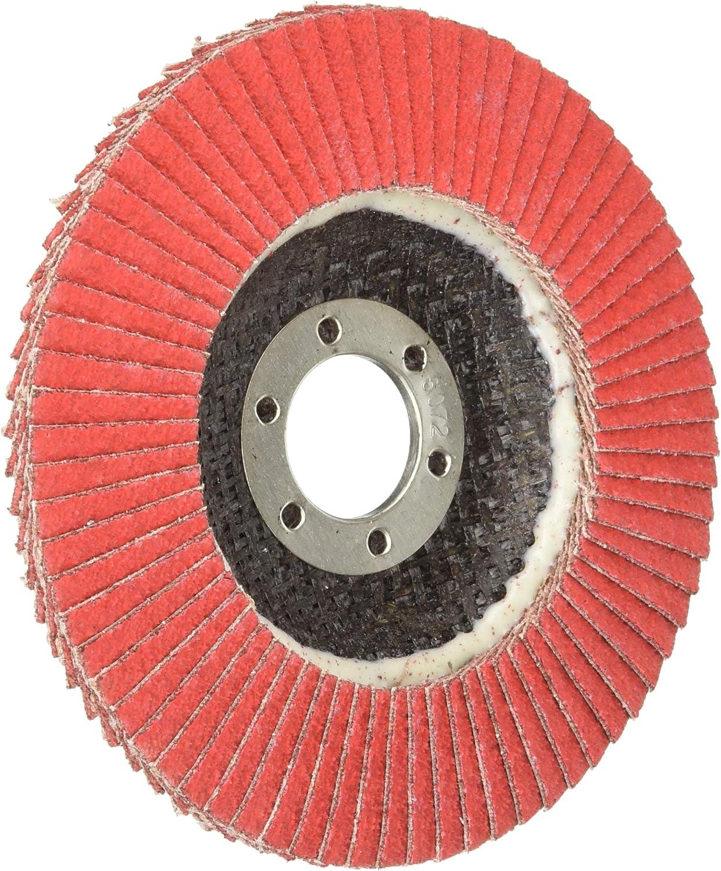 10-Pack 60 Grit Shark 46195 4.5 x7//8 Ceramic Abrasive Flap Discs Type 29