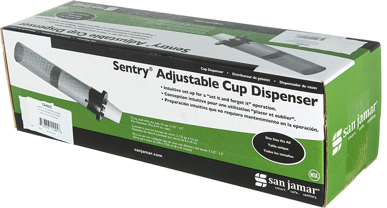 San Jamar c5450 C Sentry dispensador de vasos de ajustable plástico para mostrador, 236 ml-1301 ml taza tamaño, 597 mm tubo Longitud: Amazon.es: Amazon.es