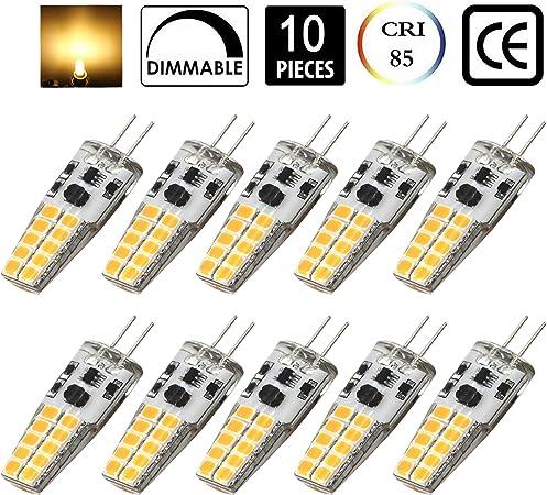 5x Bombilla G4 15 Led SMD Luz Blanca Cálida 150 Lumens