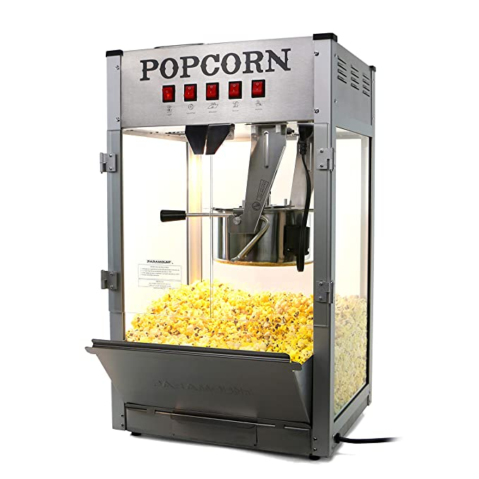 Amazon.com: Paramount 16oz Popcorn Maker Machine - New 16 oz Hot Oil Commercial Popper [Color: Black]: Kitchen & Dining