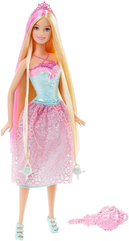 Barbie Muñeca, princesa peinados mágicos, color rosa (Mattel DKB60 ...