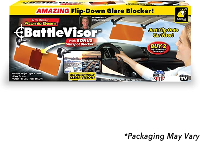 Bulbhead BattleVisor 13222 Transparent Anti-Glare Visor 1 Pack