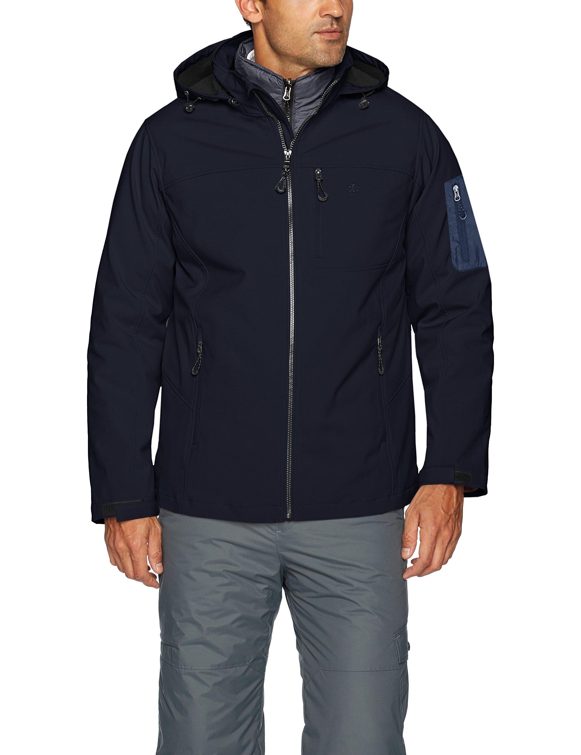 IZOD Men's 3-in-1 Soft-Shell Systems Jacket, Midnight, XXL