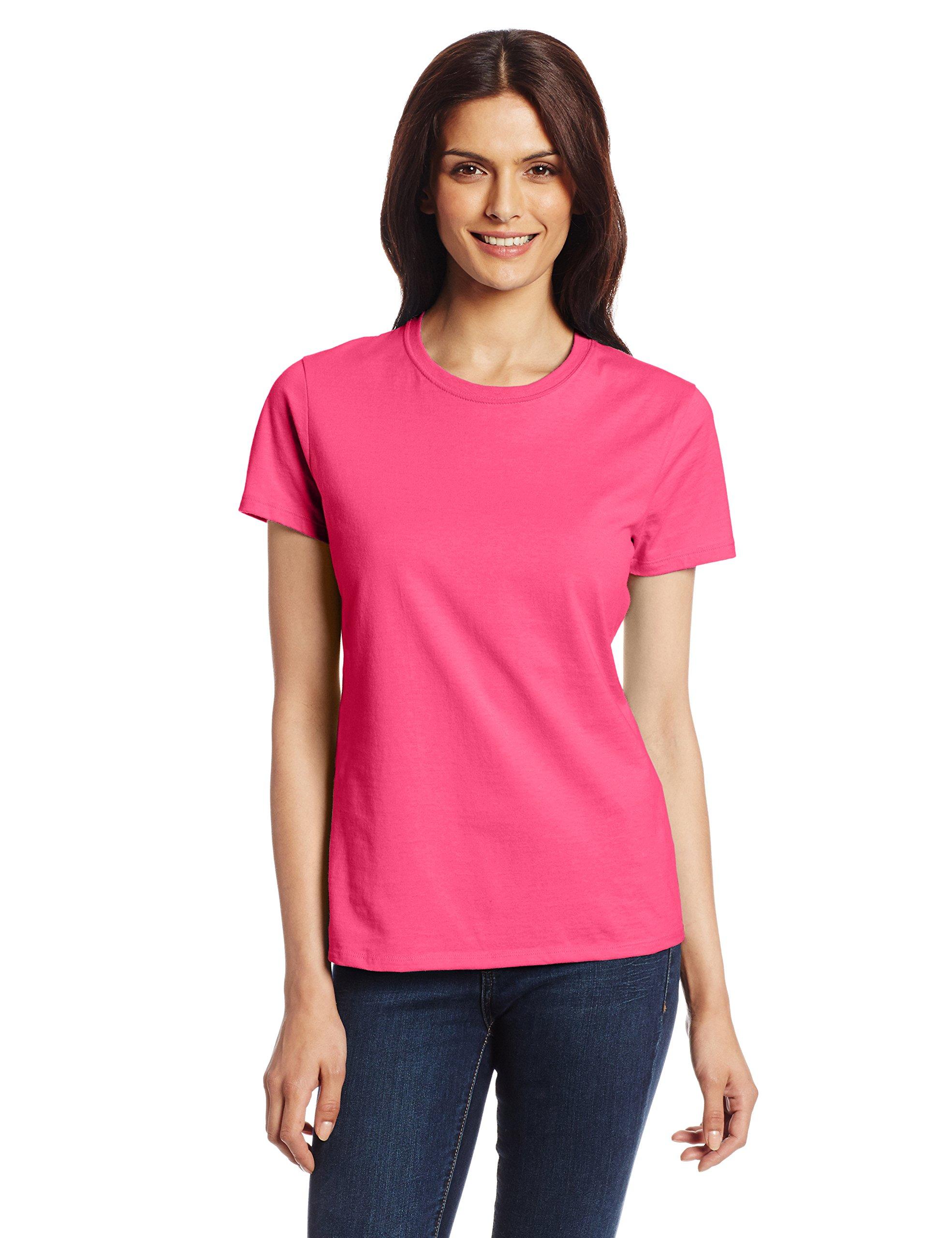 3811e893 Galleon - Hanes Women's Nano T-Shirt, Large, Wow Pink