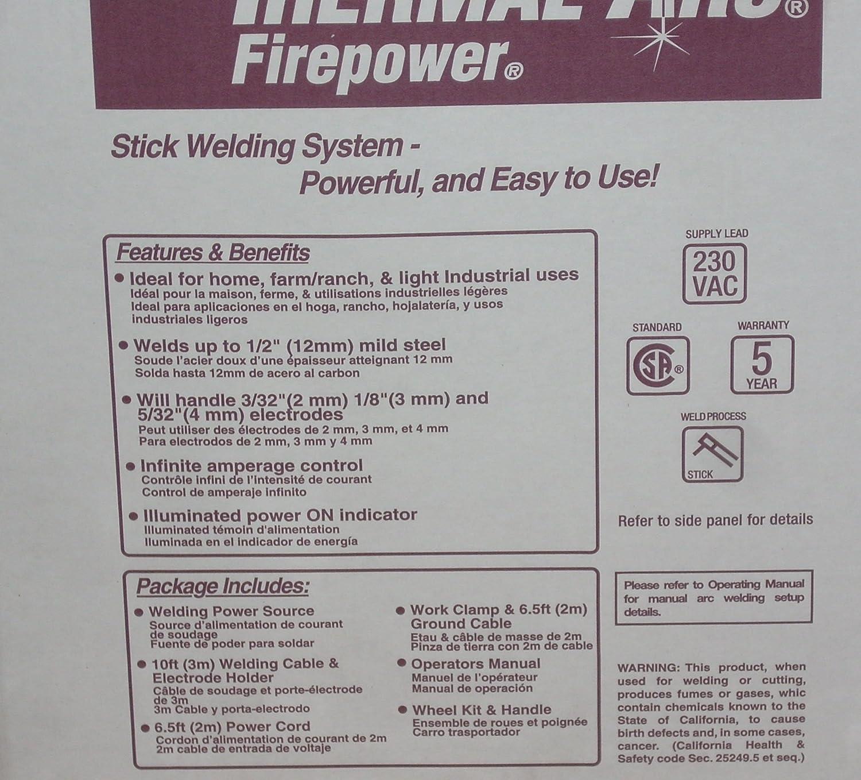 Thermal Arc Firepower 1443-0414 AC Stick Welder FP-235 Arc Welder ...